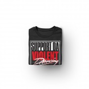 img-support-violent-dancing-tshirt-noir-logo-blanc-rouge-plie